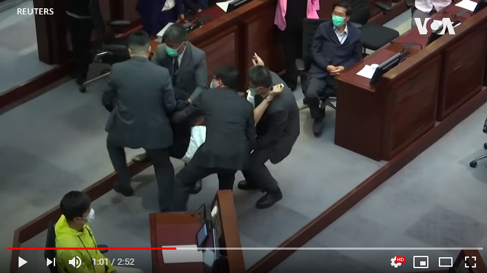 香港立法会会议冲突