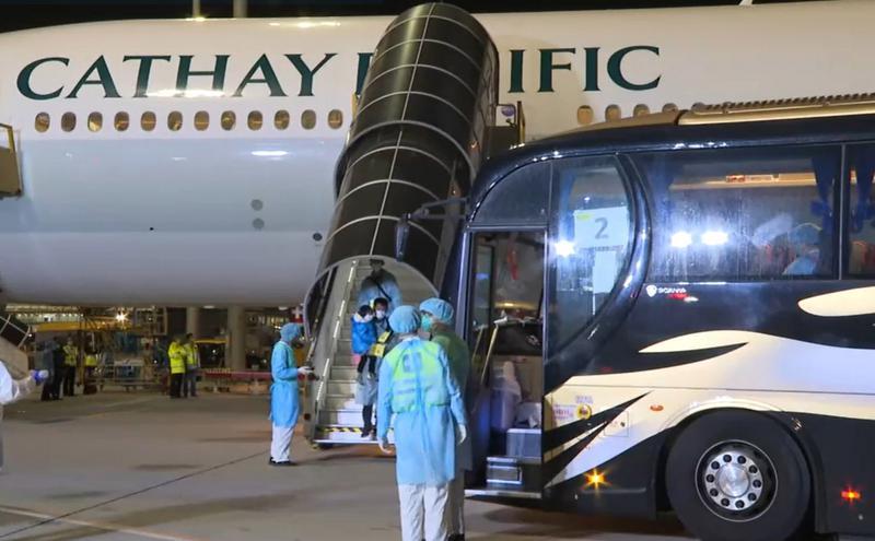港第2班包机从湖北接回135人