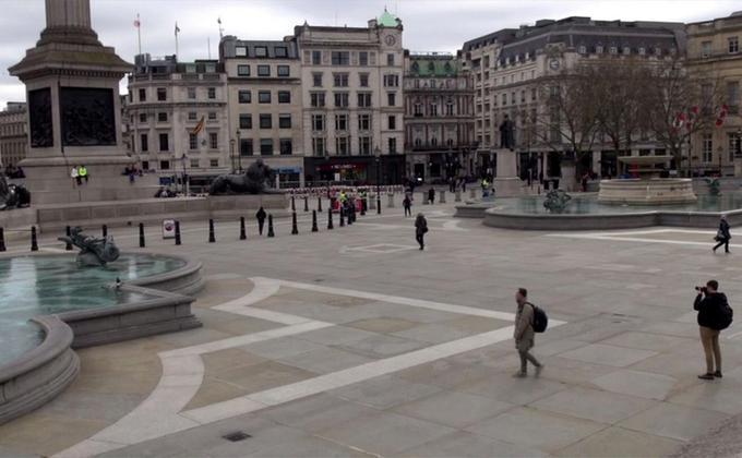 伦敦特拉法加广场 (图片来源:中央社)