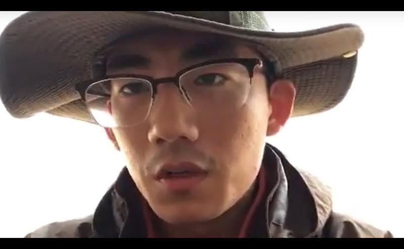 山东大学生张文斌发布短片公开呼吁共产党下课。(图片来源:网路截屏)