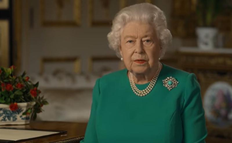 英国女王伊丽莎白二世发表特别演说。