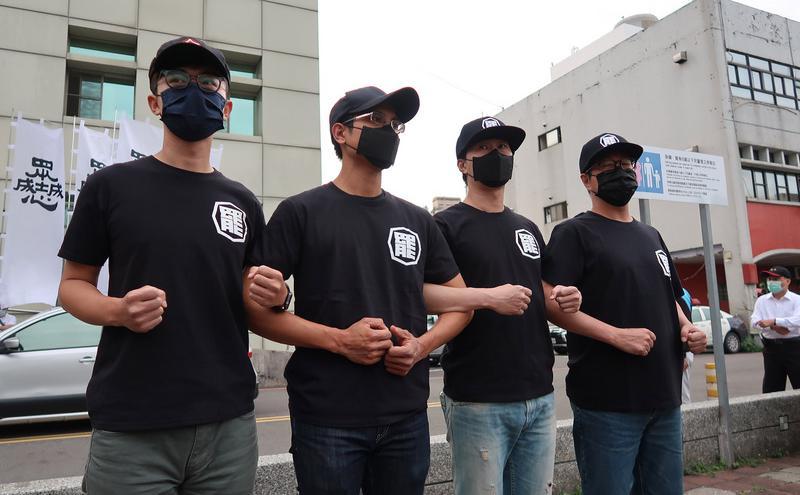 罢韩公民团体「罢韩四君子」(图片来源:中央社)