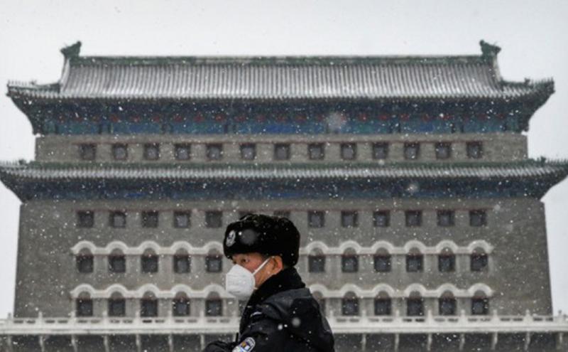"中国""Covid-19""病毒打乱一带一路布局。(图片来源:Kevin Frayer/Getty Images)"