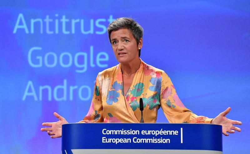 欧盟竞争事务专员Margrethe Vestager