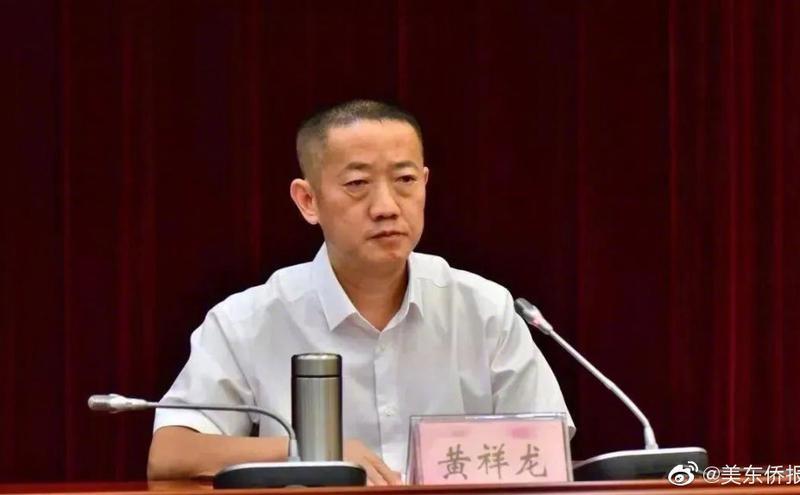 松滋市委书记黄祥龙。(图片来源:微博)
