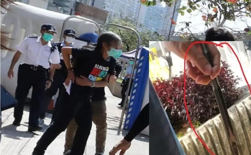 社民连副主席梁国雄遇袭。