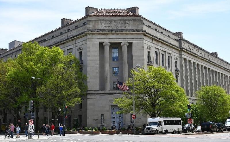 美国司法部大楼。