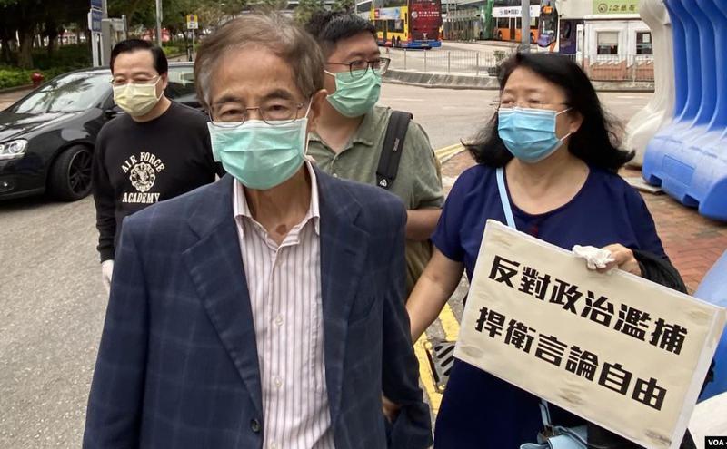 香港民主党创党主席李柱铭。