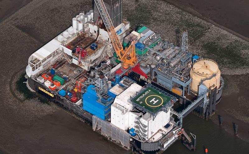 德国最大的油田Mittelplate。