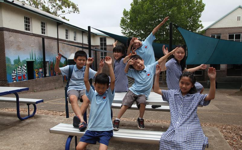澳洲学生在学校