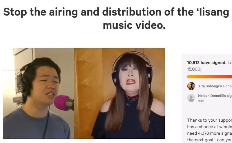 网友发起连署停止播放影片。