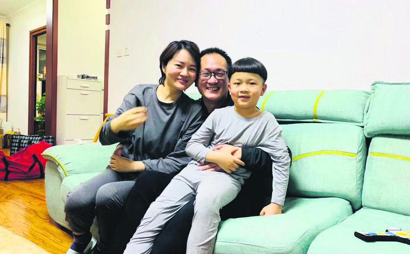 王全璋终于回家与妻儿暂时团聚