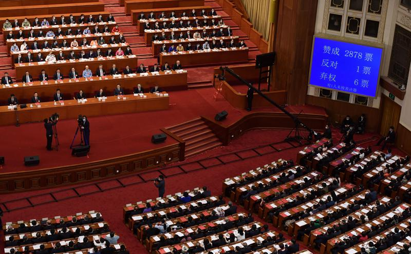 全国人大28日审议通过港区国安法