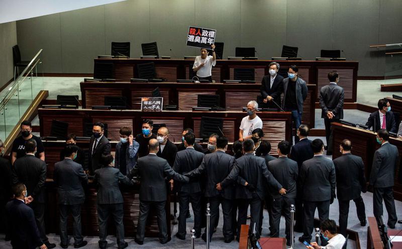 香港立法会三读国歌法(图片来源:Getty Images)