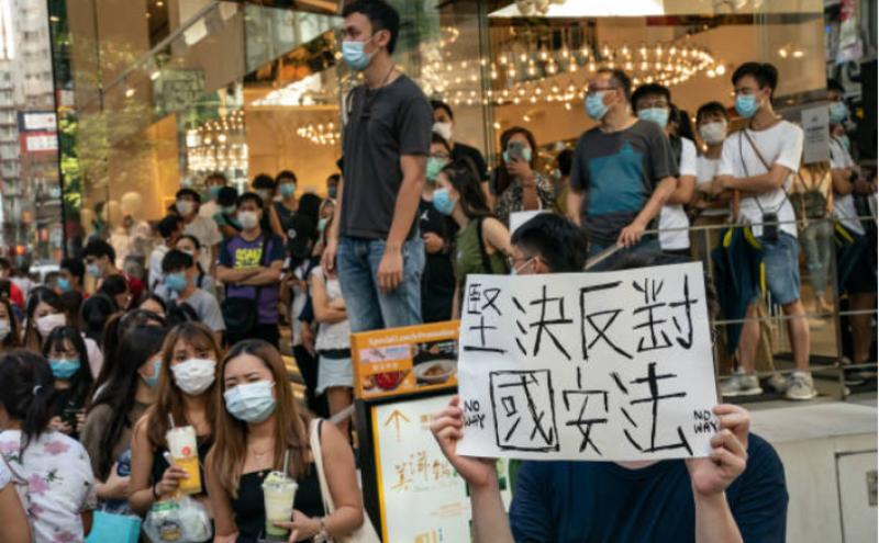 港人抗议北京通过港区国安法