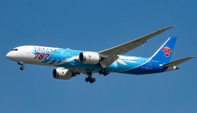中国南方航空的飞机