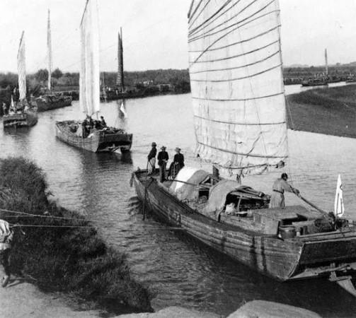 天津民众为联军组织船运