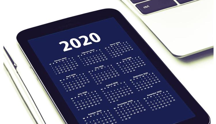 2020日历 计划
