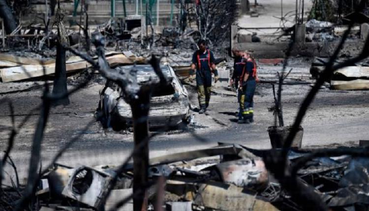 法国南部大城马赛(Marseille)发生森林火灾