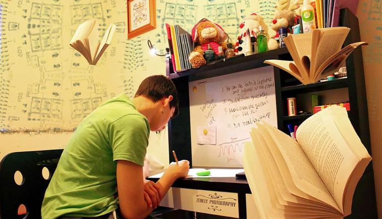 考生 考试 室内学习