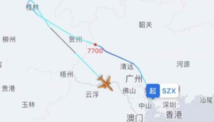 深圳航空客机紧急折返。