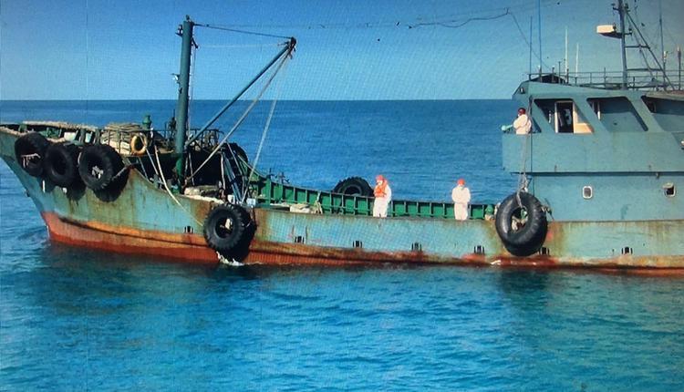 中国越界油船