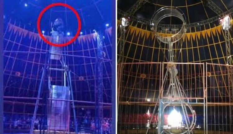 杂技演员从8米高飞轮坠落身亡 现场无安全措施