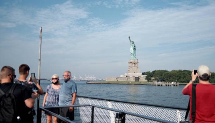 位于纽约的自由女神纪念碑