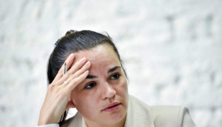 反对派候选人季哈诺夫斯卡娅(Svetlana Tikhanovskaya)