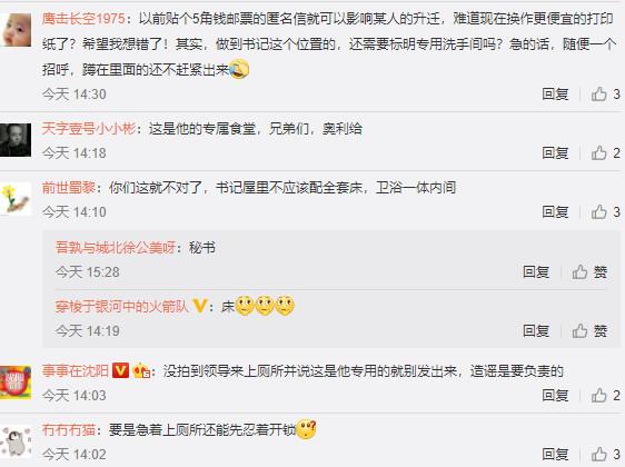 四川资阳安岳县通贤镇党委书记被曝有专用厕所引发热议(图片来源:微博)