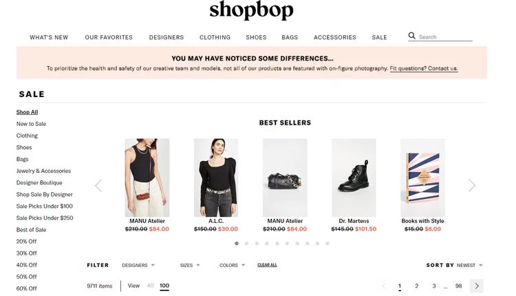 Shopbop官网最新特卖