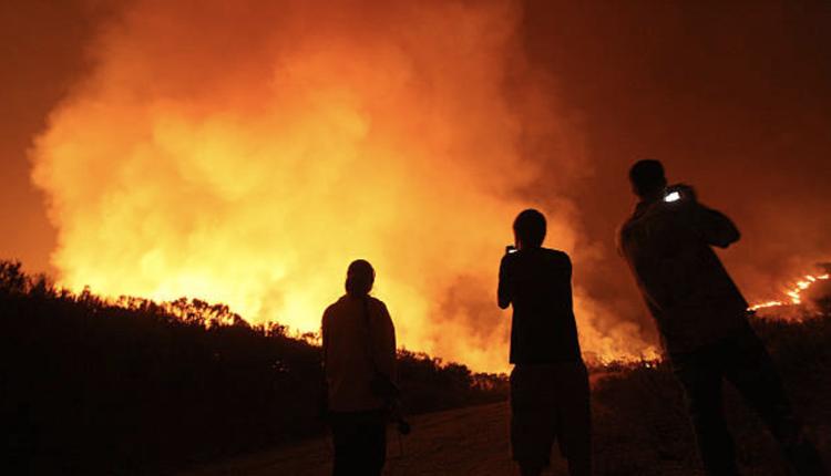 加州野火快示意图