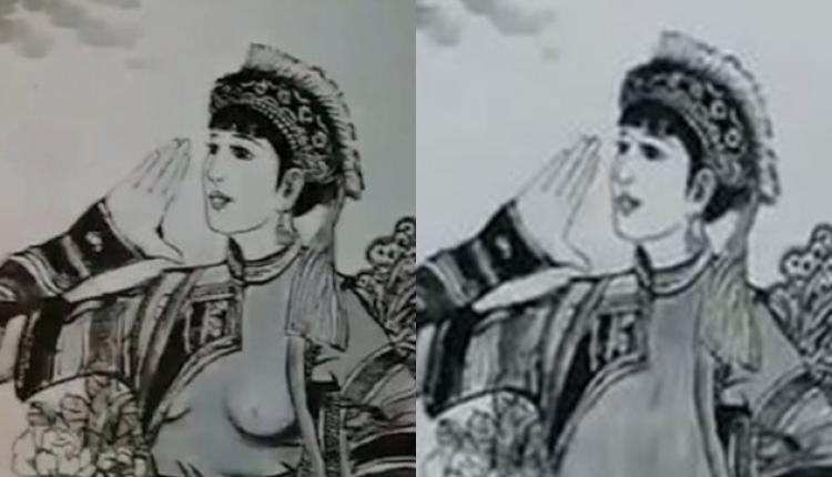 云南大理宣传壁画众女子露点被指低俗当局连夜修改