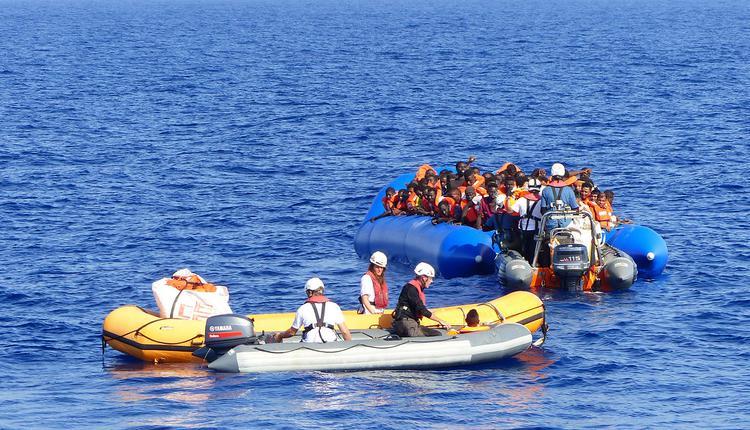 英国,难民,小船,英吉利海峡