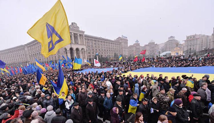 乌克兰民众2013年在基辅抗议