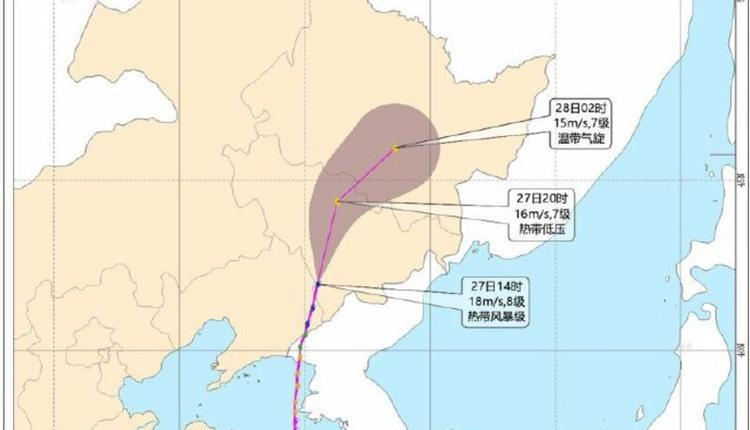 """巴威成为了第一个登陆辽宁的真正""""台风"""""""