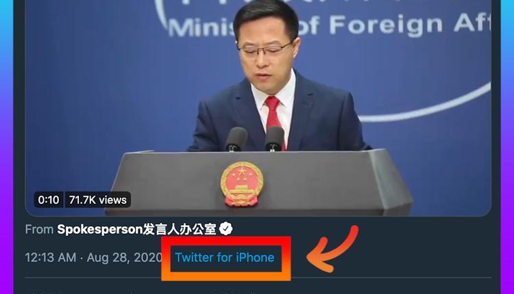 赵立坚在推特发文(图片来源:@zlj517/Twitter)