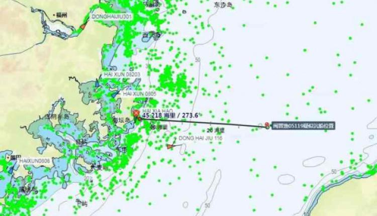 福建渔船在台湾海峡沉没12人失踪