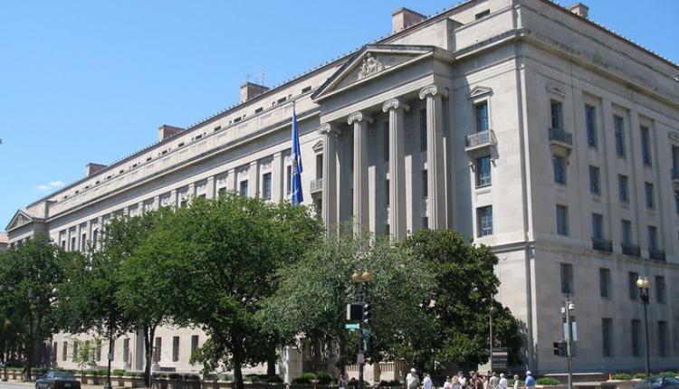 图为美国司法部总部