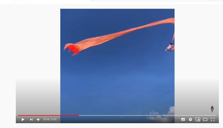 新竹国际风筝节30日活动一大型风筝尾翼将3岁女童卷起