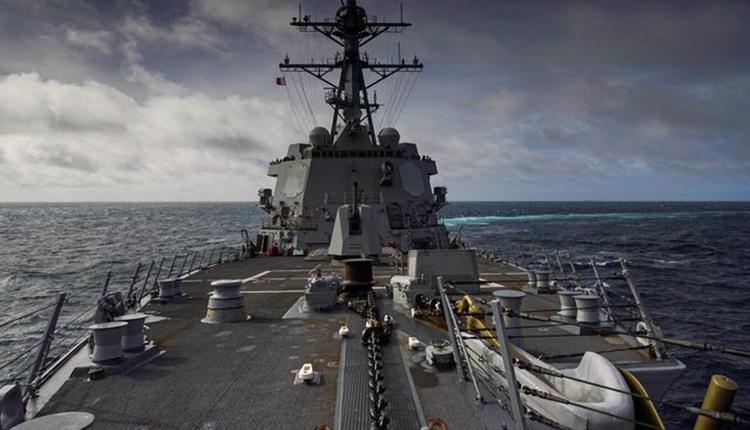 """美军伯克级神盾舰""""海尔赛号""""(DDG-97 Halsey)神盾驱逐舰。"""