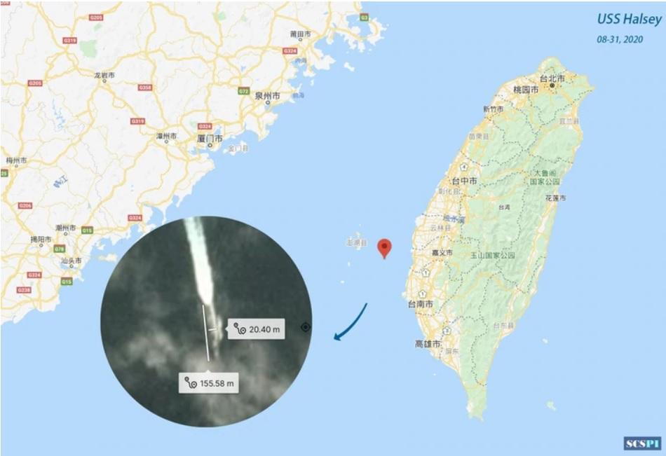 中国智库指美舰进入澎湖水道