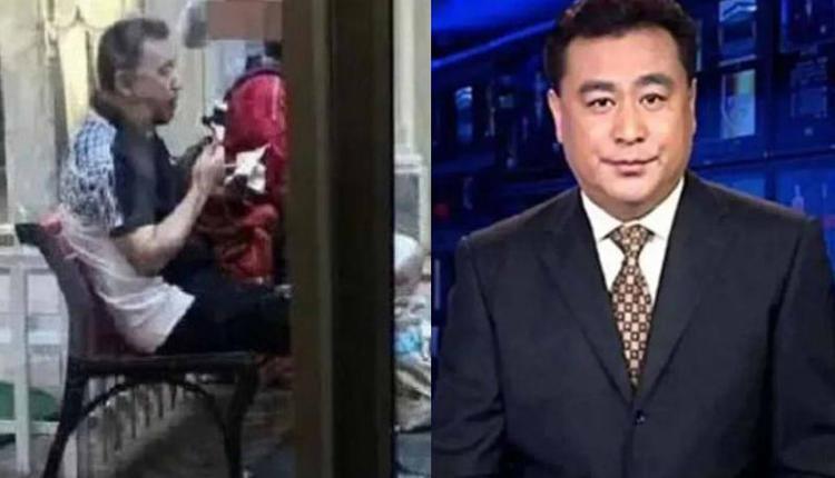 60岁央视主播独自吃雪糕照片刷屏