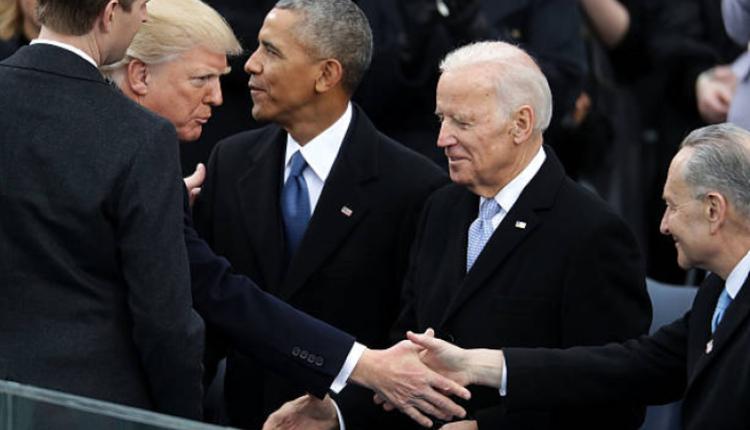 美国总统川普与总统候选人拜登同框