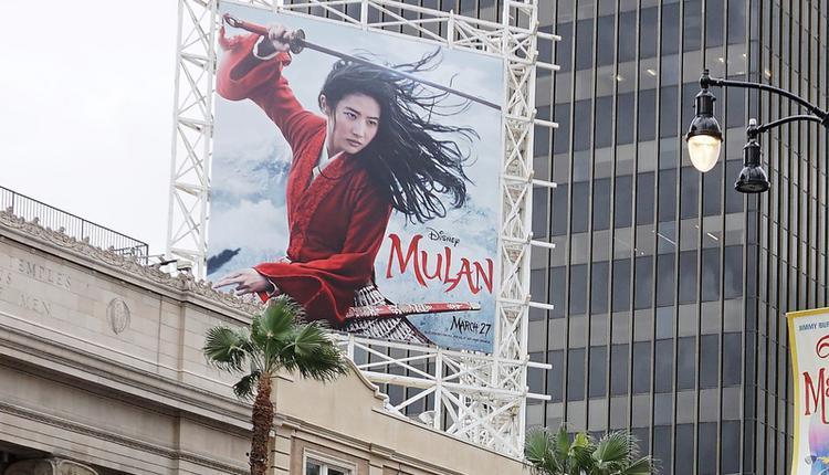 迪士尼电影真人版花木兰广告看板