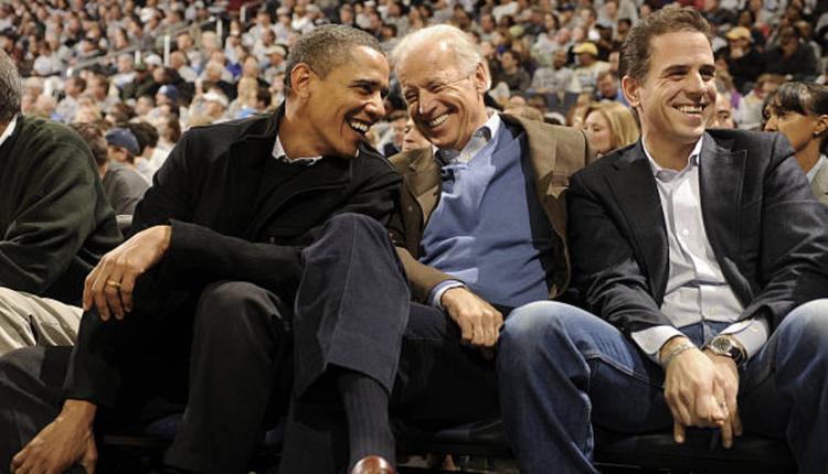 欧巴马(左)、拜登(中)及他的次子亨特(右)