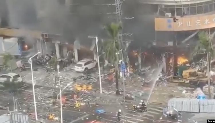 广东省珠海市斗门区白藤二路腾湖大酒店附近发生大爆炸
