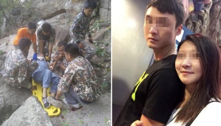 一对中国夫妻去年到泰国旅游时,发生女子的丈夫将怀孕的妻子推下想借此骗保险赔偿。(图片来源:微博)