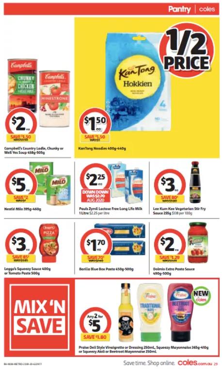 Coles超市本周半价商品