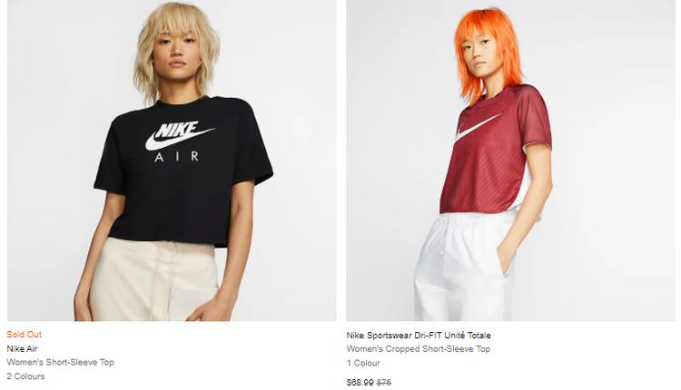Nike经典黑色短款T恤